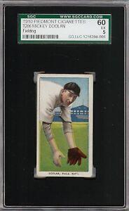 Rare 1909-11 T206 Mickey Doolan Fielding Piedmont 350 Phila SGC 60 / 5 EX
