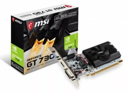 MSI GeForce GT 730 2GB GDDR 5 DX12 LP