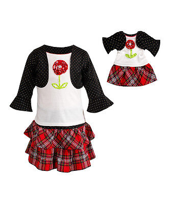 Dollie & Me Girl 2T-14 and Doll Matching Skirt Outfit Clothes fit American Girl