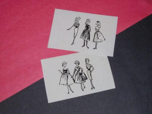 Vintage Barbie Busy Gal Replacement Portfolio Sketches