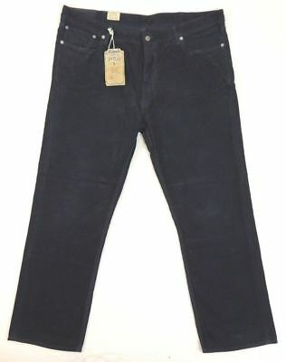 Polo Ralph Lauren 650 straight 5 pocket navy blue corduroy jeans pants 34 x 32