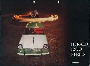 Triumph Herald 1200 1962 3 Original Car Sales Brochure Uk Edition Ebay