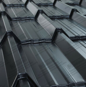 Metal Roofing Sheets Tile Effect Polyester Smooth Coated