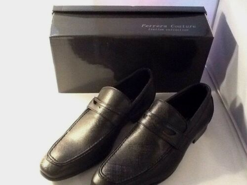 Ferrera Couture Italian Collection Mens Black Slip On Shoes Size 9 Marco