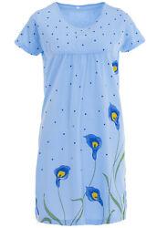 Lucky Damen Nachthemd Kurzarm Größe M (40/42) L (44/46) XL (48/50) XXL (52/54)