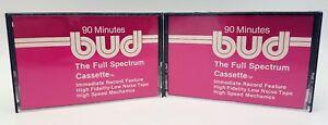 Audio-/video-leermedien Vintage Bud Bcx90 90 Minute Hi-fi Geräuscharm Band Early Audio Kassette Ein Unverzichtbares SouveräNes Heilmittel FüR Zuhause