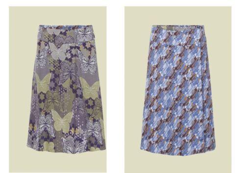 New WHITE STUFF Reversible Butterfly Bird Skirt Mauve Sage Blue  8-14 RRP £49