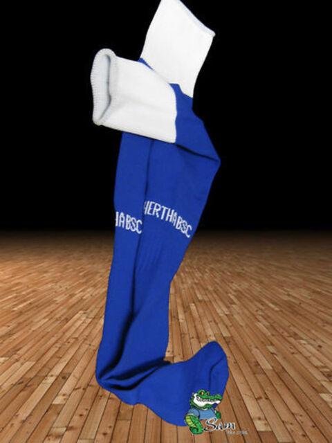 New NIKE HERTHA BERLIN Football Socks Blue Youth Boys Girls UK 2.5-7 Eur 35-41
