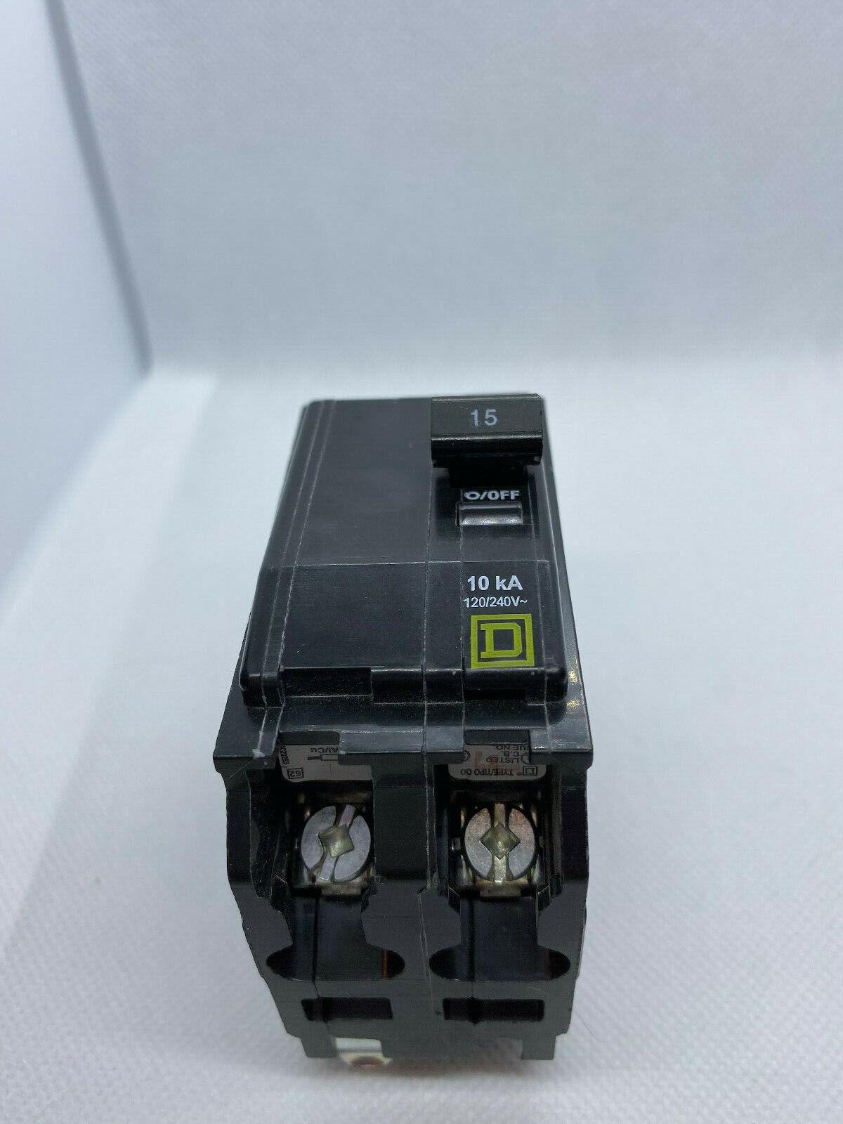 NEW SQUARE D QOB QOB215VH 2 Pole 15 Amp 240v Circuit Breaker NIB QOB215