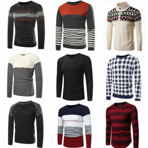 Men-Winter-Warm-Casual-Knit-Sweater-Pullover-Knitwear-Jumper-Sweater-Coat-Top