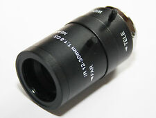12-30mm Iris Fijo IR cámara CCTV Zoom Lente para 1.3cm Resistencia