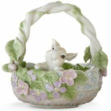 NEW Lenox Flower Patch Bunny Basket Easter Figurine
