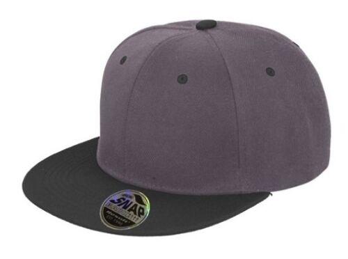 Personalised Flat Peak Snapback Cap Bronx Original Retro Customised Text Hat