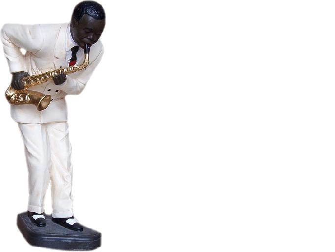 Design Saxophon Figur Statue Skulptur Figuren Skulpturen Dekoration Deko 4001