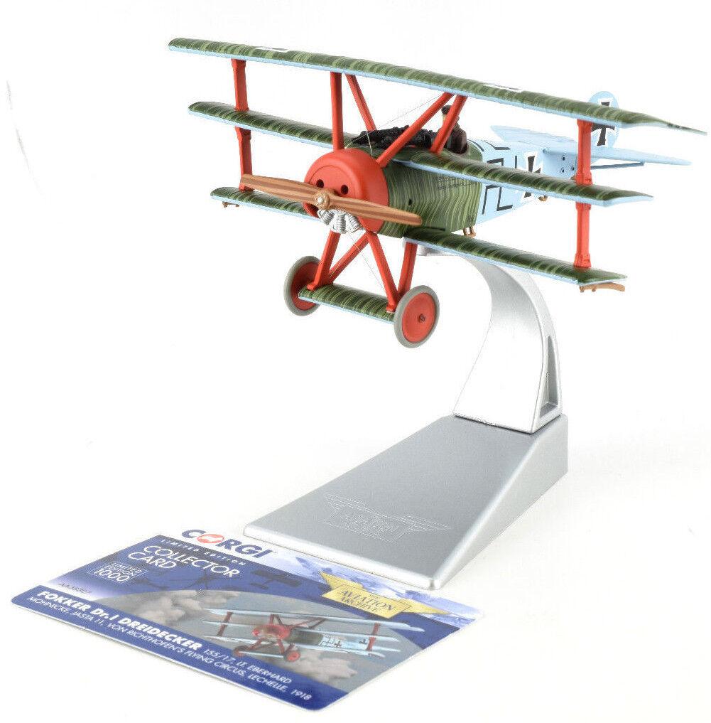 Corgi fokker DR.1 dreidecker Triplane - 1918 de mayo 1 48 DIE-CAST avión AA38307