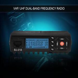 Mini-Coche-Movil-Transceptor-de-Radio-FM-VHF-UHF-Dual-Banda-Walkie-Talkie-Mic