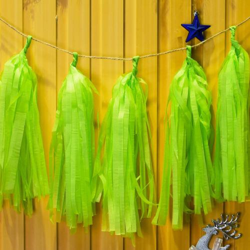 "Paper Tassel Garland DIY Kit wedding party tassel birthday banner 12/"" 1bag"