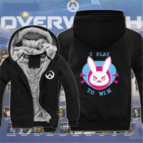 Game Overwatch Genji Thicken Winter Warm Hoodie Sweatshirt Zipper Jacket Coat