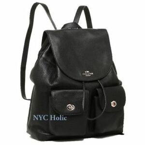 f4cfcd101ce34 Image is loading New-Coach-F37410-Billie-Backpack-In-Pebble-Leather-