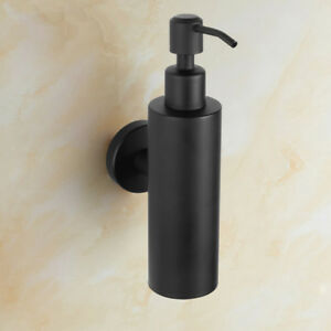 Details About Wall Mounted Soap Dispenser Lotion Liquid Pump Bathroom Holder Round