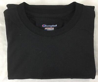 Champion Men's ONE Long Sleeves Crew Neck T-Shirt Black NWOT CC8C Size 2XL