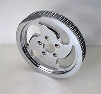 Forge-tec Chrome Scalpel Rear Belt Drive Pulley 65 Tooth 1-1/2 Harley