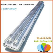 Fluorescent Light Fixture 48 Inch 4 Foot Shop Ceiling Mount Double ...