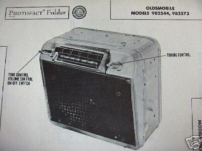 1950 OLDSMOBILE RADIO PHOTOFACT