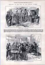 1876 Softas In The Street Constantinople Reading Telegram Hotel Csacsak