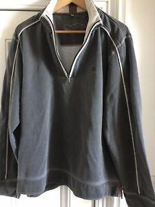 Mens-Fat-Face-Zip-Collar-L-Sweatshirt-Used