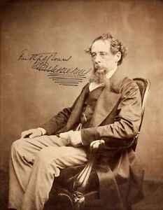 CHARLES-DICKENS-Repro-Autogramm-20x25-cm-Grossfoto-repro-autograph-signed