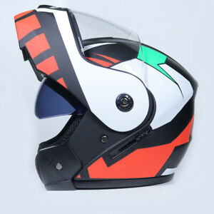 DOT Modular Helmet Flip Up Motorcycle Helmet Full Face Dual Visor Street Bike