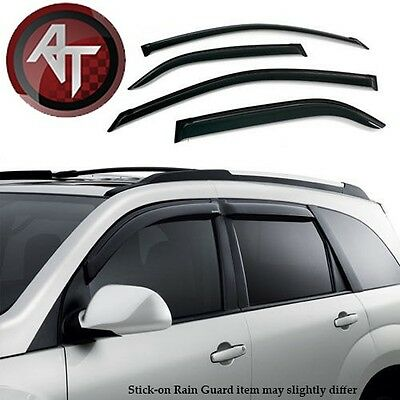 Black Horse FITS Nissan XTerra 2000-2004 Window Vent Visor Rain Guards Sun Shade