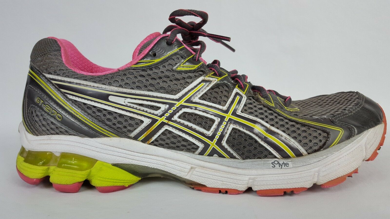 Women's ASICS GT 2170 Grey Pink Yellow Green Running Shoe Comfortable Wild casual shoes