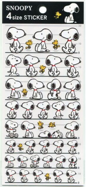 Peanuts Snoopy 4 Size Sticker Sheet #3