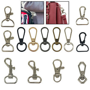 13mm Lobster Swivel Trigger Clasps Clips Bag Key Ring Silver Hook Keychain Clasp