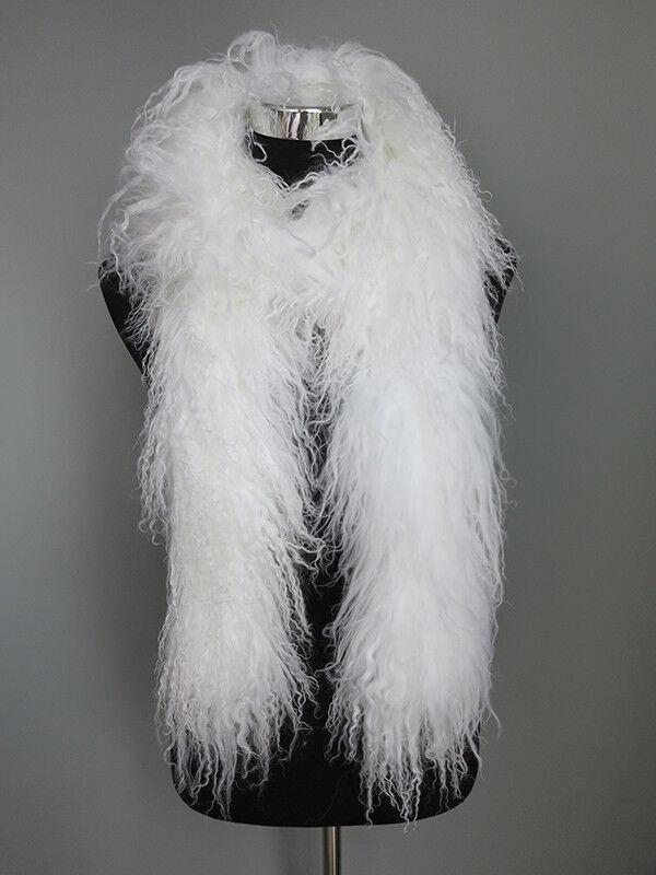 100% real Mogolian sheep fur scarf /fur collar/ fur wra
