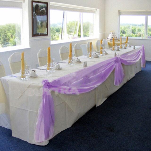 5M*0.5M Top Table Swags Sheer Organza Fabric DIY Wedding Party Bow Vest 2014