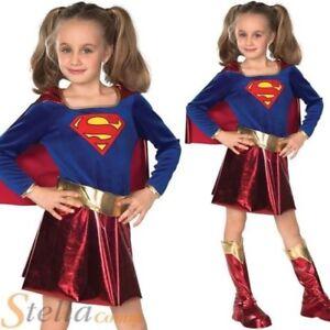 aa9eb18be921f fille de luxe Supergirl Déguisement Pour Enfants super héro Costume ...