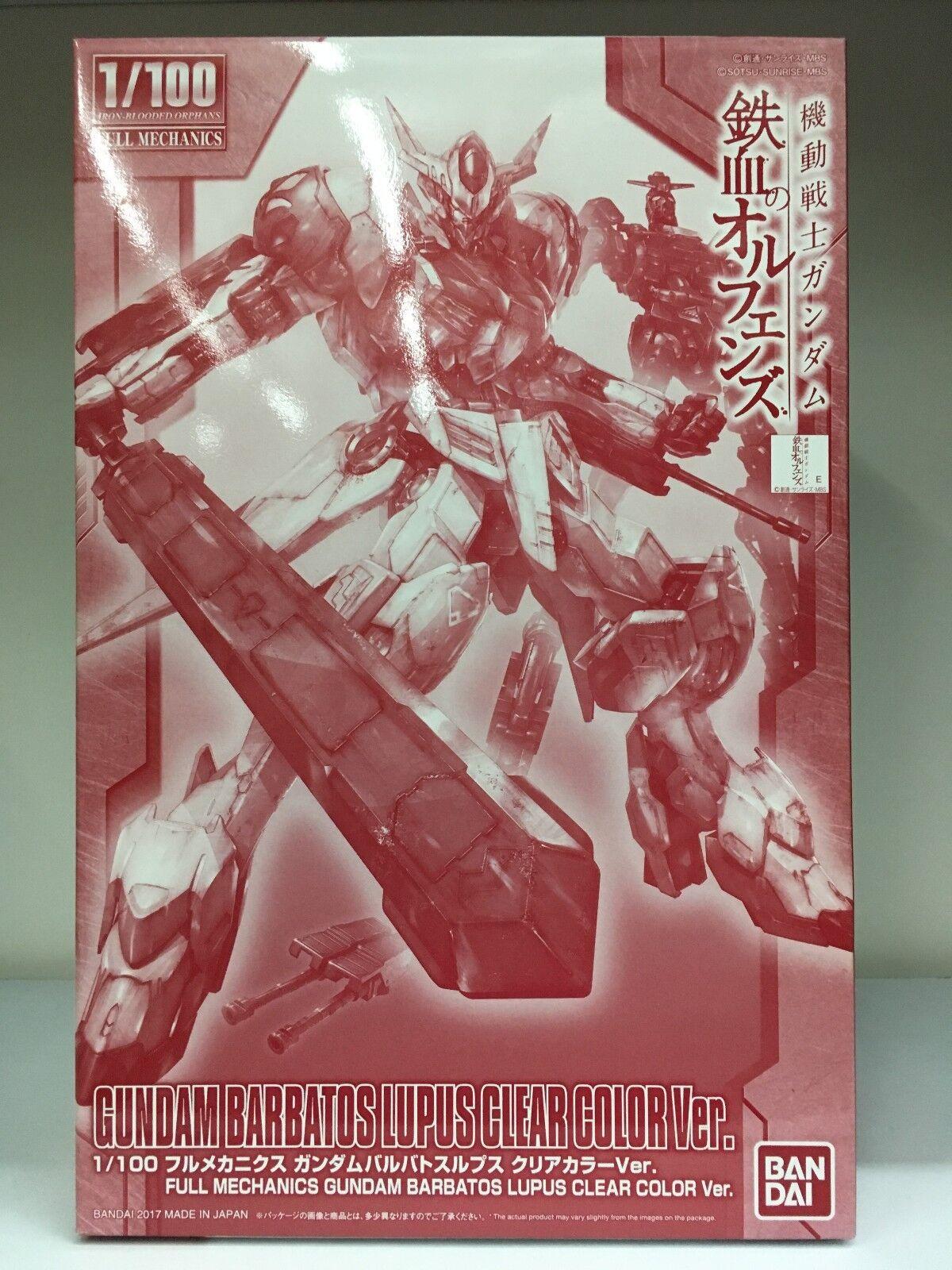 Bandai Expo 1 100 Gundam Barbatos Lupus Lupus Lupus Clear color Version Iron Blooded Orphans 51fa86