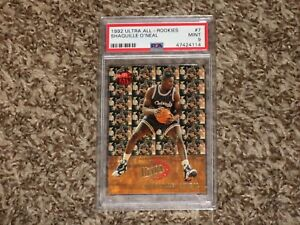 Shaquille O'Neal 1992 Fleer Ultra All Rookies Insert Rookie 1992-93 PSA 9 MINT