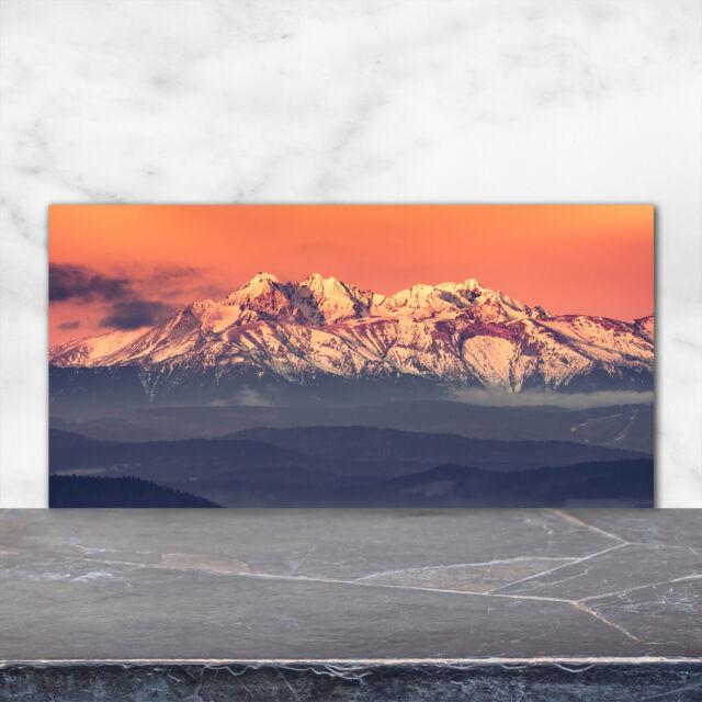 Details about  /Küchenrückwand Spritzschutz aus Glas 100x70 Deko Landschaften Häuser Tatra