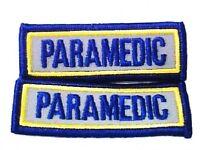 Paramedic Reflective Patch Set Emt Ems 3 X 1 Embroidered Shoulder Patches