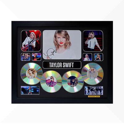 Taylor Swift Signed & Framed Memorabilia - 4 CD - Black - Limited Edition