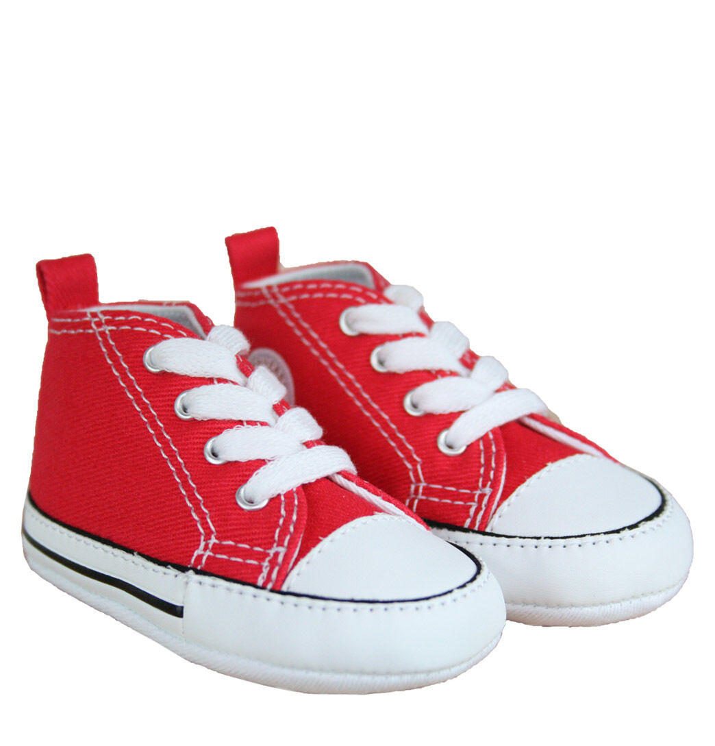 7770f15886c6 CONVERSE NEWBORN CRIB BOOTIES RED 88875 FIRST ALL STAR BABY SHOES SZ ...
