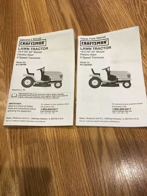 Sears Craftsman 502 255070 Lawn Tractor Mower Operator S Manual Owners For Sale Online Ebay