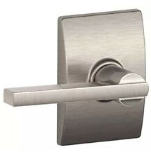Schlage F10VLAT619CEN Latitude Passage Lever Lockset, Satin Nickel