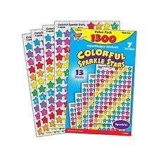 1300 Sparkle Star School Teacher Reward Stickers - Ideal For Progress Charts