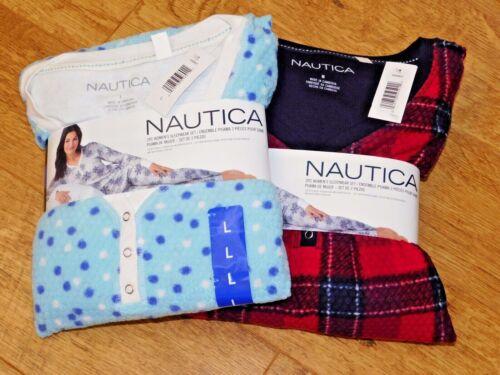 Nautica Ladies/'s 2 Piece Fleece Winter Pajama Sleepwear Set S//M//L//XL BNWT
