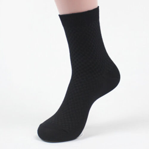 1Pair Classic Men Bamboo Fiber Plaids Dress Casual Sports Comfort Business Socks